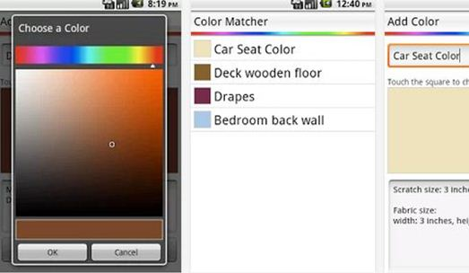 Android Apps for Interior Design & Architecture Color Matcher