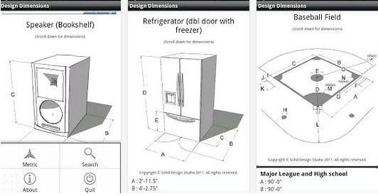 Android Apps for Interior Design & Architecture Design Dimensions