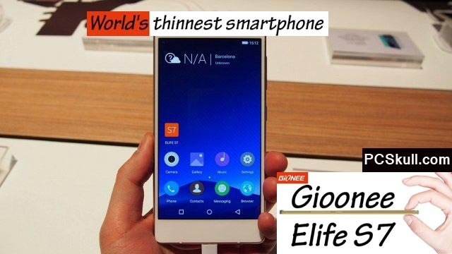 Buy the Worlds Slimmest Mobile Elife S7 Easily from Online Shops