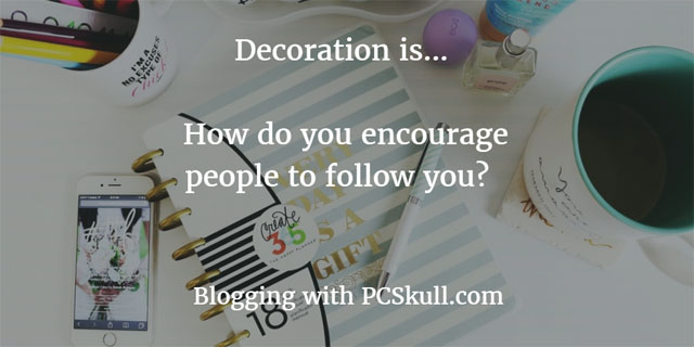 encourage people with blog