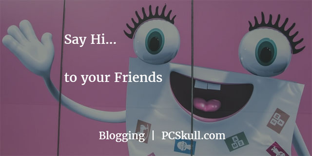 recommend blogging