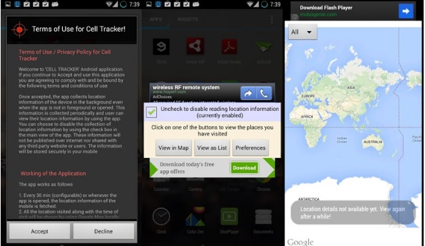 Cell Tracker Spy Android app