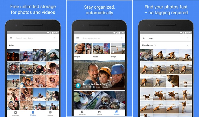 Android Google Photo App