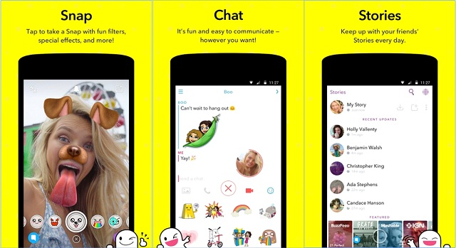 Snapchat Photo Sharing Apps for Android