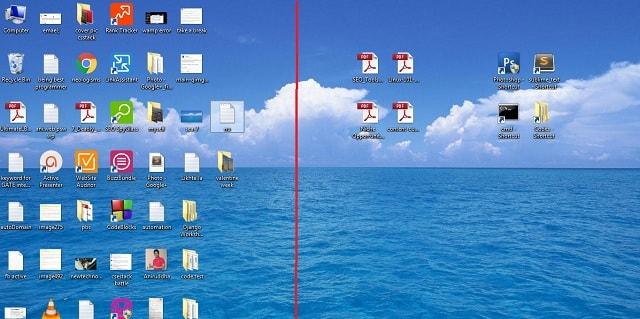 Cluttered Desktop vs free